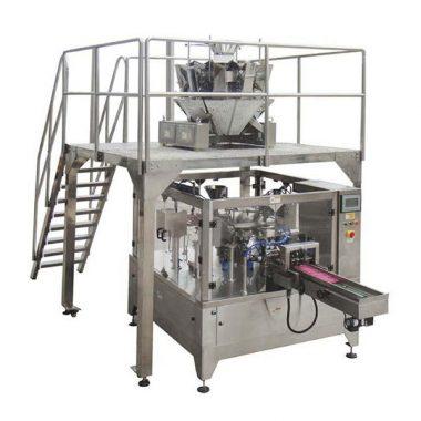 автоматическая ротационная машина для упаковки в полиэтиленовую упаковку